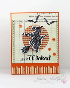 Jeanne Jachna: A Kept Life – Fusion!  This is Halloween! - 10/23/14.  (Stamps: Lil Inker Designs Bats & Broomsticks.  Dies: Lil Inker Designs Bats & Broomsticks; Spellbinders Standard Circles).