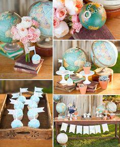 "Home decor, ""Love makes the world go round"" party, travel theme. etc."