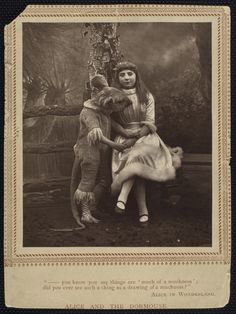 alice and the dormouse, from the billy rose theater collection in the nypl digital archive