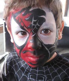 black spiderman face p...