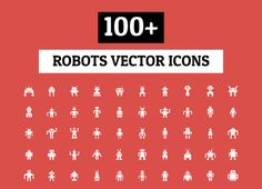 100+ Robots Vector Icons by Creative Stall on Creative Market