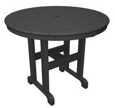 Ideal for entertaining, the Trex Outdoor Furniture Recycled Plastic Monterey Bay Round Patio Dining Table is available in several different sizes. 36 Round Dining Table, Patio Dining, Patio Table, Dining Set, Table And Chairs, Outdoor Dining, Teak Table, Traditional Dining Tables, Outdoor Tables