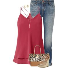 A fashion look from July 2015 featuring J Brand jeans, Michael Kors sandals and Betsey Johnson tote bags. Browse and shop related looks.