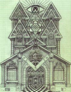 Masonic Cathedral  by ~IamWhoIWasNot