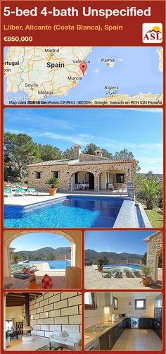 5-bed 4-bath Unspecified in Lliber, Alicante (Costa Blanca), Spain ►€850,000 #PropertyForSaleInSpain