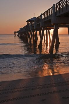 Juno Pier  Jupiter, Florida. Across the street from where I used to live.  Great place to watch surfers