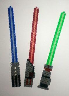 Star Wars lightsabers hama beads by Astrid's Zauberstübchen