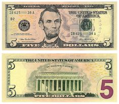 Five Dollar Bill Hidden Images Reveal Obama Martial Law 5 Dollar Bill, Dollar Money, 100 Dollar, Printable Play Money, Money Template, Bill Template, Federal Reserve Note, Money Notes, Coin Dealers