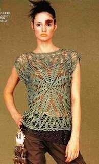 Receitas de Crochet: Bata ou Túnica. crochet top with diagram.