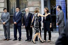 Foro Hispanico de Opiniones sobre la Realeza:  Llegada de Doña Letizia al conservatorio para asistir a la lección inaugural de los cursos de verano de la Escuela Internacional de Musica de la Fundación Princesa se Asturias. 16 julio 2015.