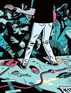 How Indie Rock Changed the World Arte Grunge, Grunge Art, Arte Punk, Estilo Rock, Arte Cyberpunk, Surfboard Art, Bd Comics, Music Artwork, Aesthetic Art