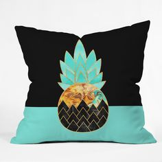 Elisabeth Fredriksson Precious Pineapple 1 Throw Pillow | DENY Designs Home Accessories