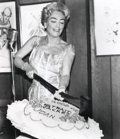 Joan Crawford at the Strait-Jacket (1964) wrap party.