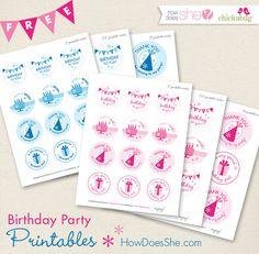 Free Birthday Printables!