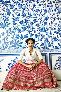 Anita Dongre Pinkcity from Vogue Wedding India Anita Dongre, Indian Attire, Indian Wear, Indian Outfits, Indian Style, Ethnic Fashion, Asian Fashion, Boho Fashion, High Fashion