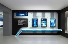 China ENFI Enterprise exhibition hall on Behance Futuristic Interior, Futuristic Design, Display Design, Store Design, Studio Tv, Exibition Design, Vitrine Design, Interactive Walls, Exhibition Booth Design
