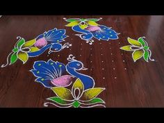 beautiful peacocks Rangoli Easy chukkala muggulu Sankarthi special rangoli Thanks for watching 🙏🙏 Please like sha. Indian Rangoli Designs, Rangoli Designs Latest, Simple Rangoli Designs Images, Rangoli Designs Flower, Rangoli Border Designs, Rangoli Patterns, Rangoli Designs With Dots, Rangoli With Dots, Free Hand Rangoli Design