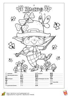coloriage calendrier