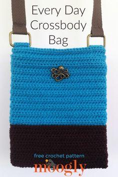 Every Day Crossbody Bag - free crochet pattern on Mooglyblog.com