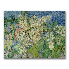Blossoming Chestnut Branches by Van Gogh Canvas Giclee Print