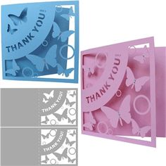 Silhouette Design Store - View Design #29595: thank you cards