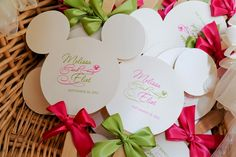 My Disney Life: Wedding Trip Recap- Our Mickey Mouse Fan Programs designed by Shelley of Impressions!