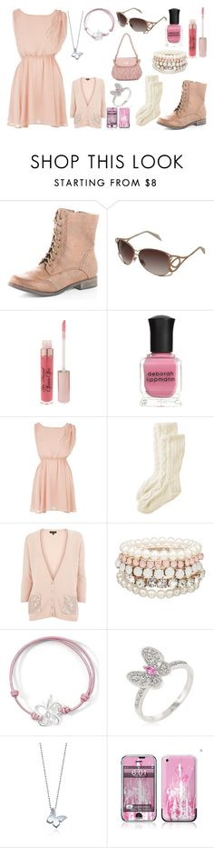 """""""PINK"""" by irishchick11 ❤ liked on Polyvore featuring Dorothy Perkins, Alexander McQueen, Too Faced Cosmetics, Deborah Lippmann, Toast, MOOD, Fantasy Jewelry Box, Alex Woo and Let's Fly"""