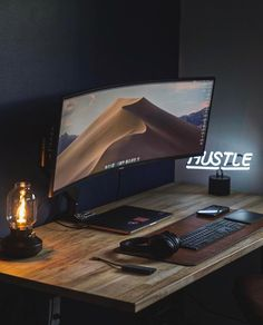 Best Gaming Setup, Gaming Room Setup, Pc Setup, Home Office Setup, Home Office Design, Computer Desk Setup, Pc Desk, Home Studio Desk, Dream Desk