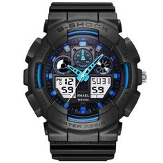 Outdoor Men Military Watches LED Sports Digital Quartz Multifunction Wristwatch