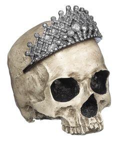 Queen Skull Figurine (shown unlighted)