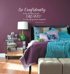 Plum Raspberry And Turquoise Bed Room