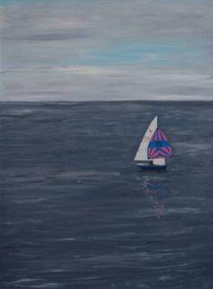 Sailing on the Solent Art Print Robert Harris, Figurative Art, Fine Art Paper, Saatchi Art, Sailing, Waves, Art Prints, Gallery, Outdoor