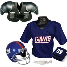 New York Giants Youth NFL Ultimate Helmet and Jersey Set 1258d21c1