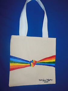 """Hand-painted Tote Bag """"Pride Knot"""""""