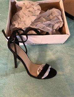 8e6ae0464e9 Black Glittery Fashion Nova Heels Size 8  fashion  clothing  shoes   accessories