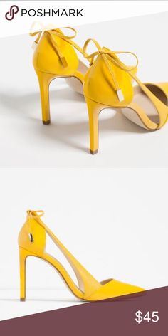 NWT Zara Yellow Heels NWT! Zara Shoes Heels