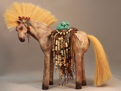 Horse sculpture with antique finish by MishasArt on Etsy, $900.00