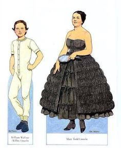Image result for abraham lincoln and his family paper dolls