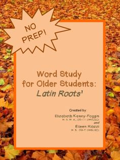 Do your students struggle reading? Do you find reading challenges impact concepts development in reading and other content areas?  This multisensory bundle of lessons is the perfect choice for your student or child in grades 8 through 12. This multisensory Latin Root Bundle is based on the principles and research of the Orton Gillingham approach, a multisensory, explicit, sequential, and cumulative approach, which incorporates repetition and continual review.