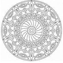 Mandala  47 - Coloring page - MANDALA coloring pages - Mandalas for EXPERTS