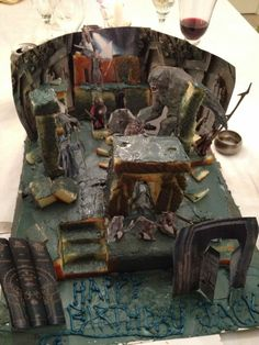 we loves it, precious : a Lord of the Rings mines of Moria cake