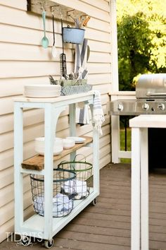 Outdoor grill area a