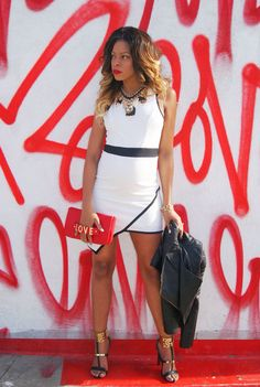 """Pregnant and sassy in her """"ZurikGirl """"BellaV"""" dress 