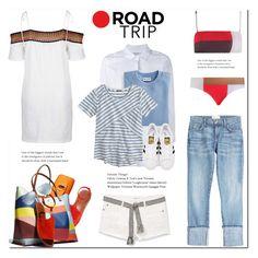 """Summer Road Trip Essentials"" by drn57 ❤ liked on Polyvore featuring Current/Elliott, Topshop, MANGO, Zimmermann, Frame Denim, Ray-Ban, Blair, J.Crew, adidas Originals and WallPops"