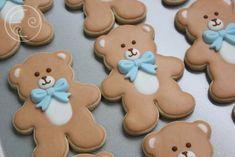 Baby Boy Cookies, Teddy Bear Cookies, Teddy Bear Party, Teddy Bear Baby Shower, Baby Shower Cookies, Baby Boy Shower, Baby Shower Themes, Baby Shower Decorations, Lila Baby