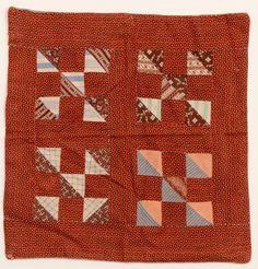 Nine Patch Doll Quilt; Circa 1880; Pennsylvania