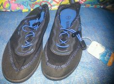 Boy's Speedo Water Shoes Junior sz Small Pool Blue swim lake clothes accessories #Speedo
