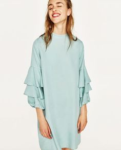 83307eb5d89d FRILLED SLEEVE DRESS - NEW IN