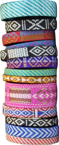 Caña Flecha Bracelets from Colombia - Choose from several pre-selected sets of these handmade, fair trade, bright cana flecha cuffs, which feature contemporary, graphic designs in fun geometric and tribal patterns. One size fits most.