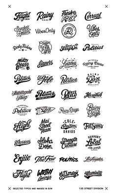Lettering Fonts Discover Recent selected logos and images in B/W Showcase and discover creative work on the worlds leading online platform for creative industries. Tattoo Lettering Fonts, Graffiti Lettering, Lettering Styles, Typography Letters, Lettering Design, Typographie Logo, Vintage Logo Design, Grafik Design, Letter Logo